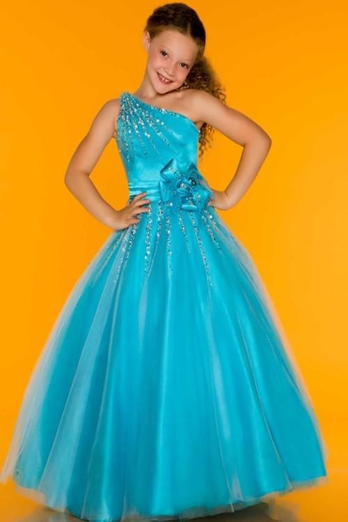 Wholesale Girls Pageant Dress - Buy Cheap One Shoulder Satin Sequined  Crystal Organza Floor Length Flower Girls Kids Pageant Dress Princess . 34179ad143cc