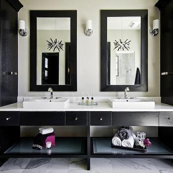 black bathroom vanity - design, decor, photos, pictures