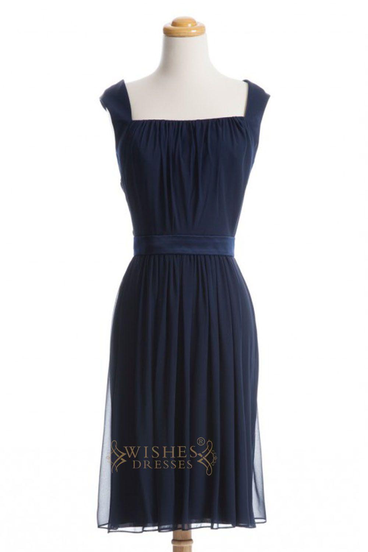 Aline dark navy chiffon short bridesmaid dresses am shorts