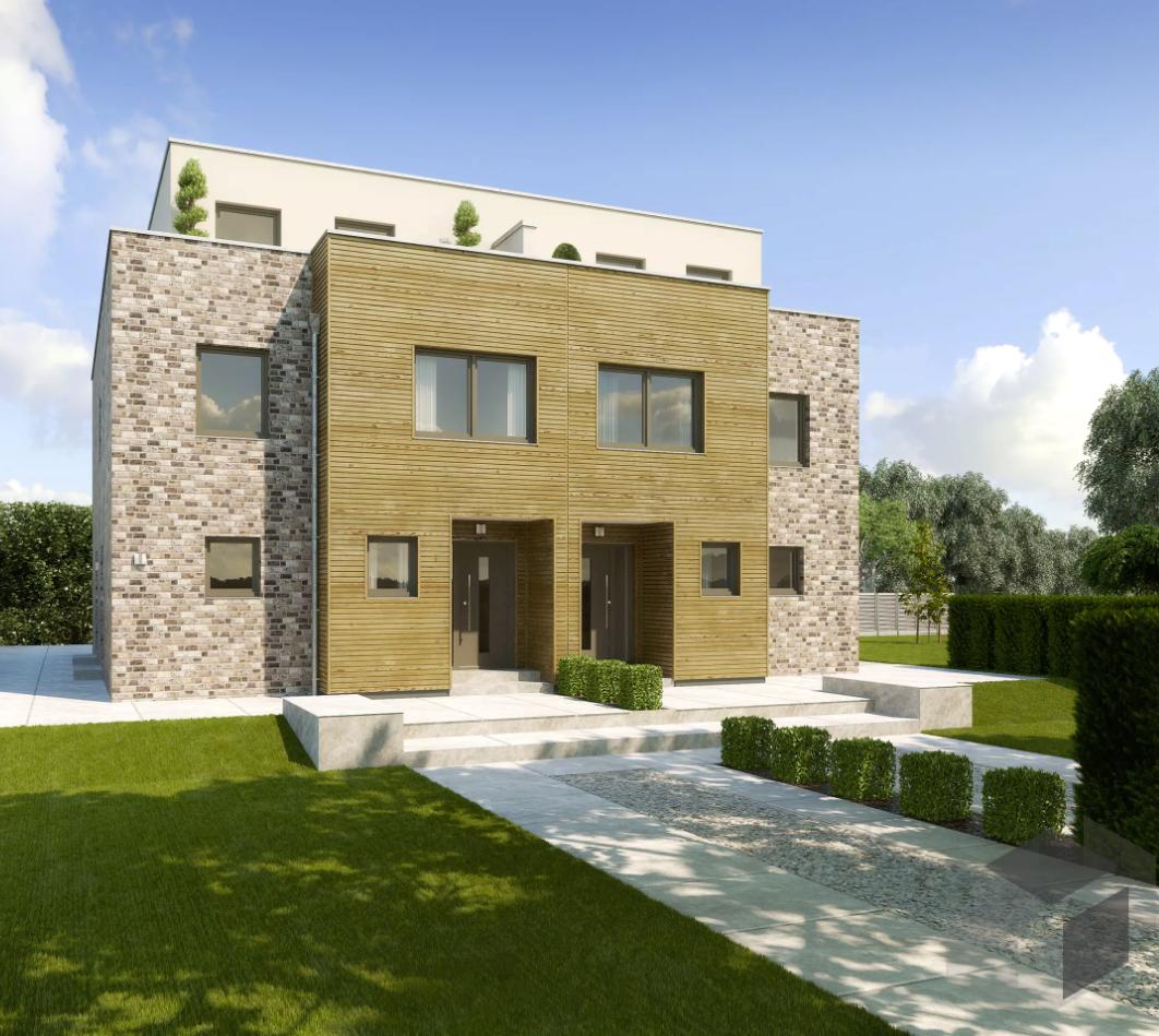 Modernes Doppelhaus von Gussek Haus Erhalte alle Infos zum