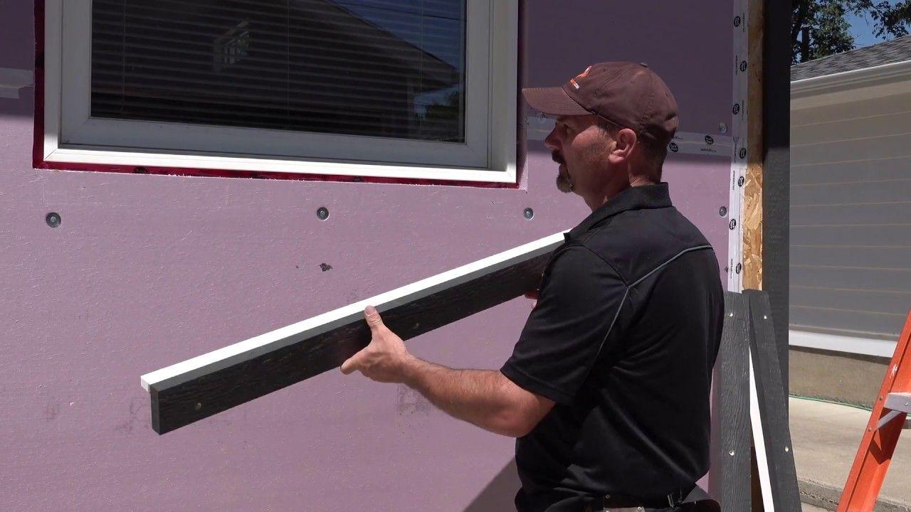 How i make install trim around windows after exterior