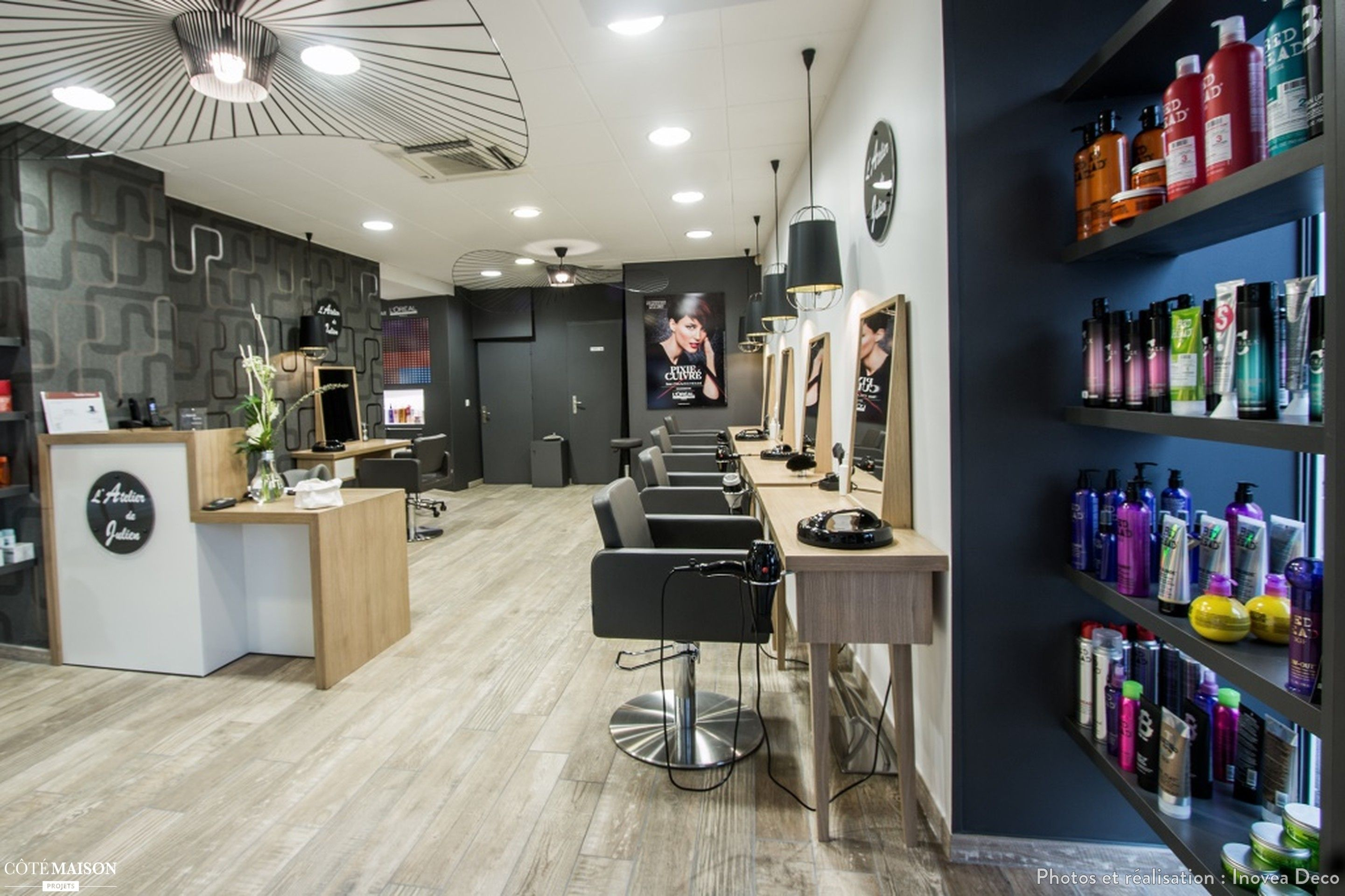 Rénovation totale d'un salon de coiffure de 100m²