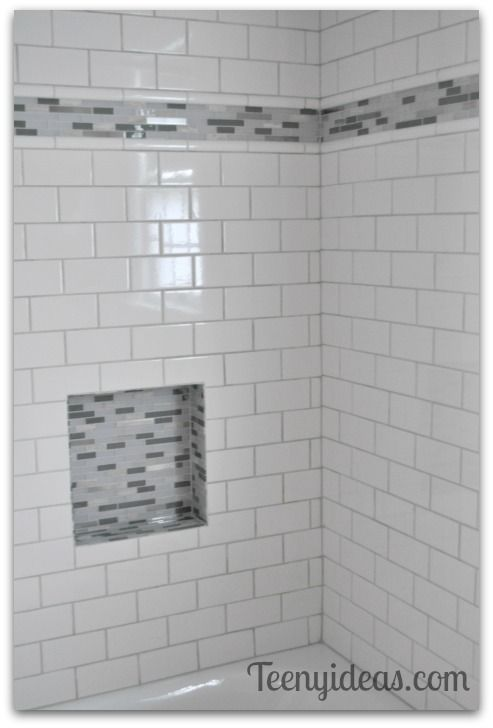 Shower Subway Tile With Mosaic Accent Google Search