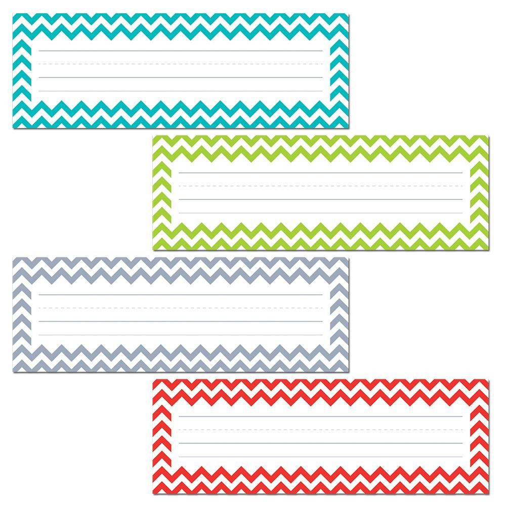 Chevron Solids Name Plates Chevron Name Plates Desk Name Tags Word Wall Template Name tag template free download