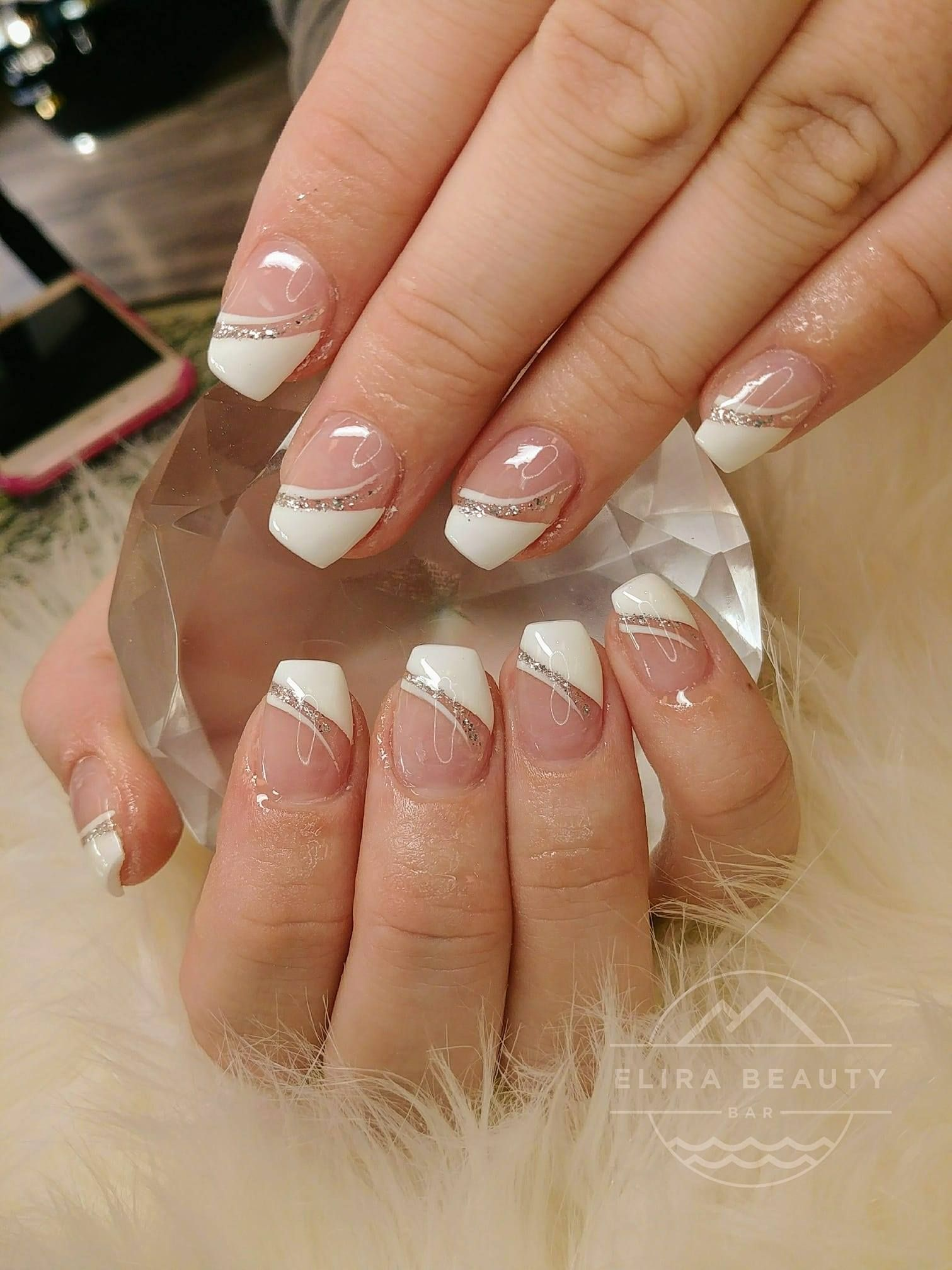 New Style Of French Tip Nails Acrylic Nails French Tip Nails French Tip Acrylic Nails French Nails