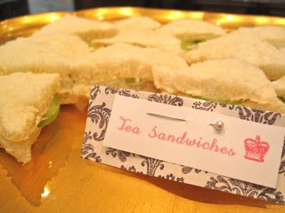 Little finger sandwiches - finger foods - very nice ~