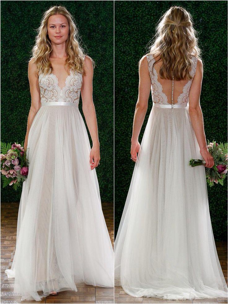 Resultado de imagen para vestidos sencillos de novia   boda ...