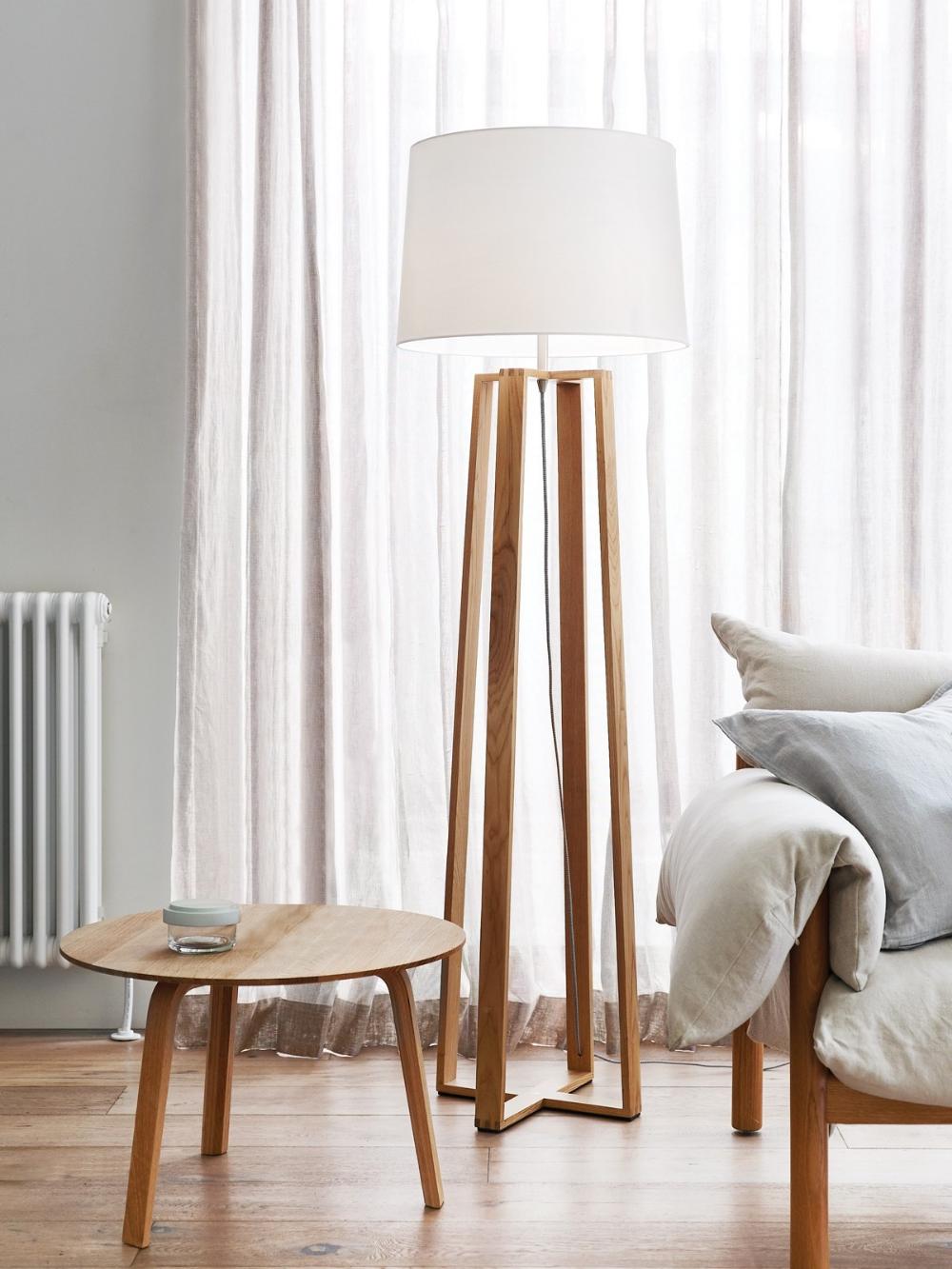 Copenhagen Floor Lamp In Teak In 2020 Floor Lamps Living Room Lamps Living Room Scandinavian Floor Lamps