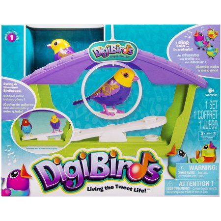 DigiBirds Birds with Bird House, Green