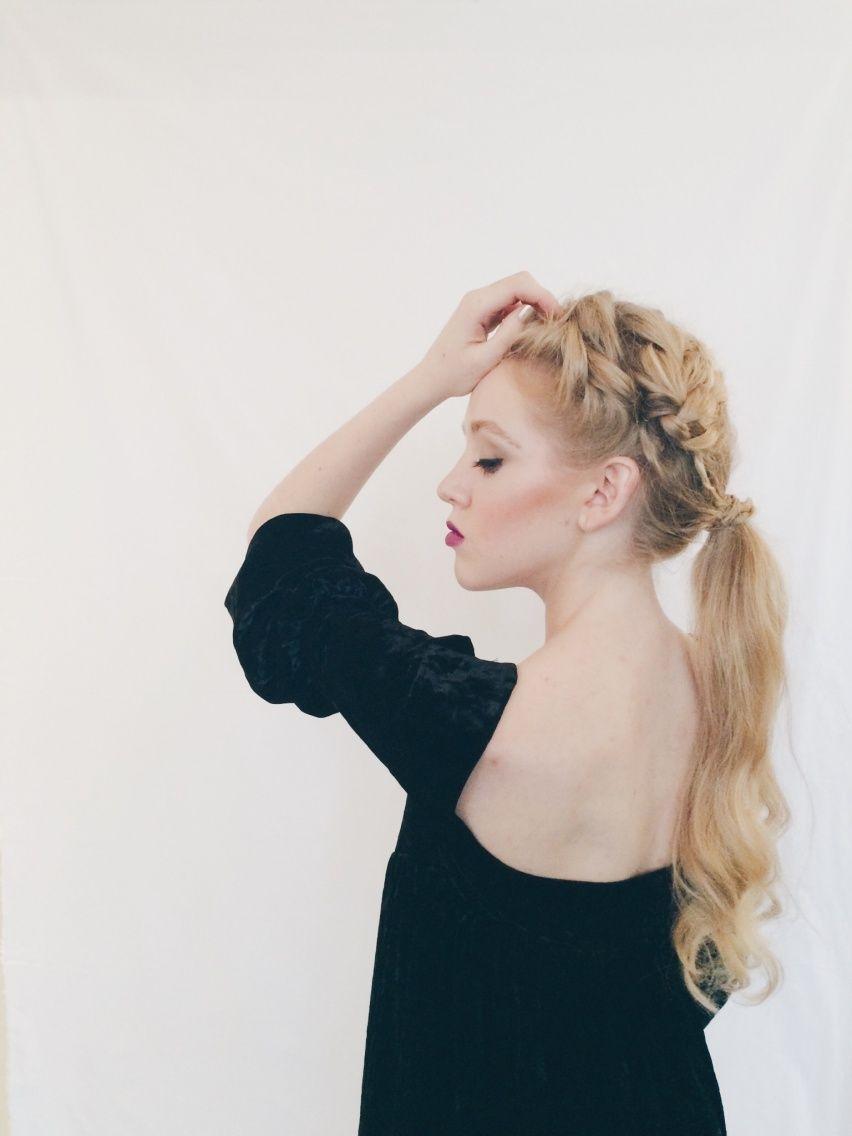 French braid ponytail | Karen Elizabeth | VSCO