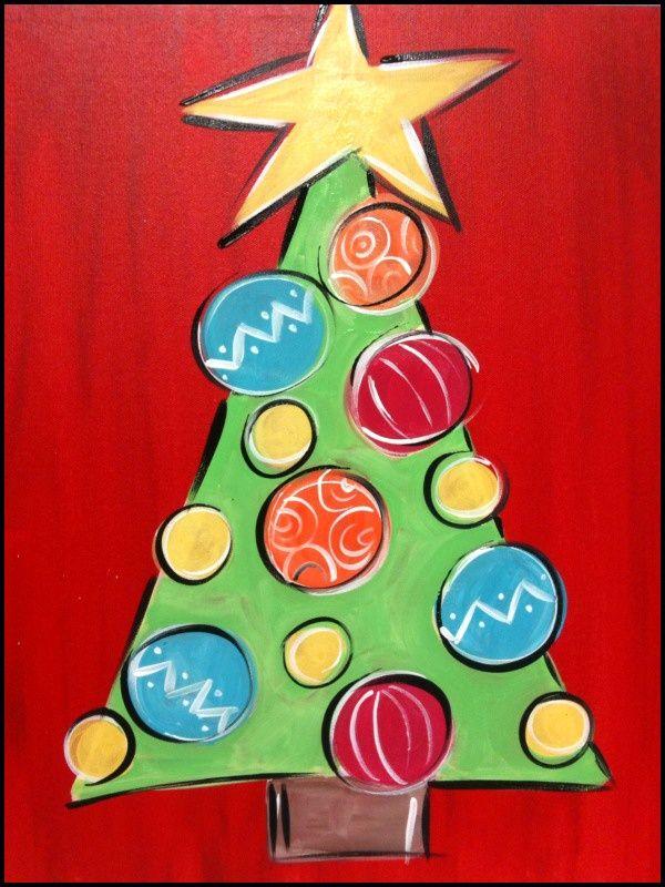 Image Result For Christmas Tree Christmas Paintings On Canvas Christmas Paintings Christmas Tree Canvas
