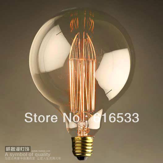 1900 Antique Vintage Edison Light Bulb 40W 220/110V Radiolight G95II
