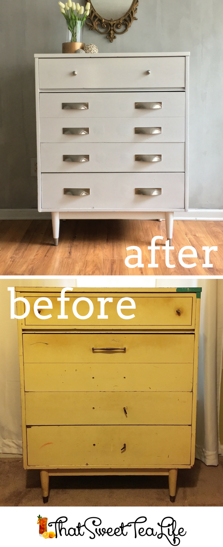 Beautiful S Bedroom Dresser Makeover Mid Century Modern With A Finish By That Sweet Tea Life Furniture How To