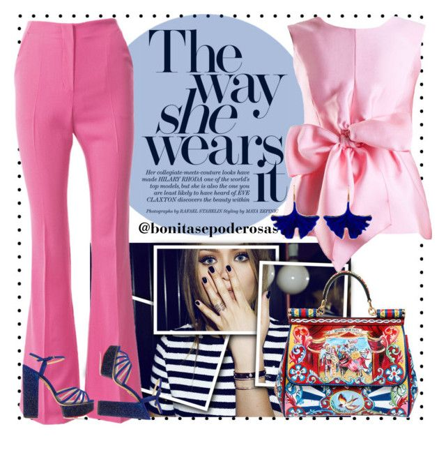 """""""The way she wears it #14"""" by bonitasepoderosas on Polyvore featuring Yanny London, Charlotte Olympia, Dolce&Gabbana and Aurélie Bidermann"""