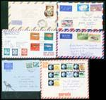 FISH 1920s-1990s. A delightful collection, featuring Fish stamps on AIRMAIL covers, many different...