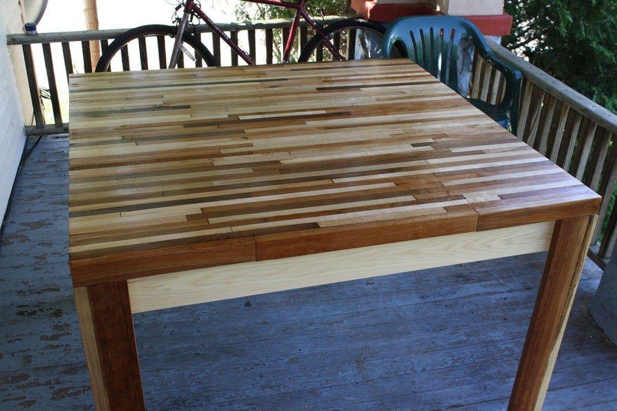 Butcher block hardwood table hardwood table butcher