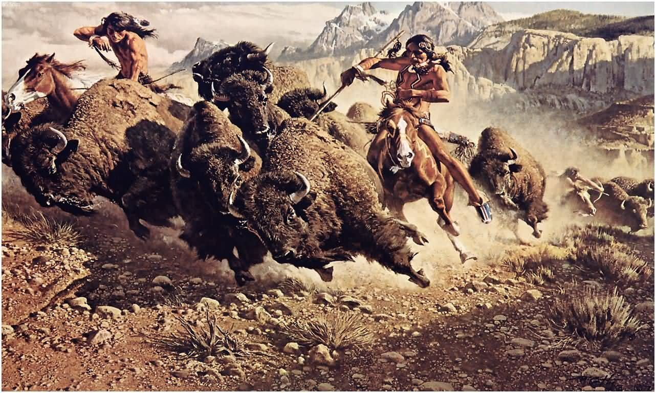 plains indians food pictures | ... buffalo. Buffalo were very important to the Plains Native Americans