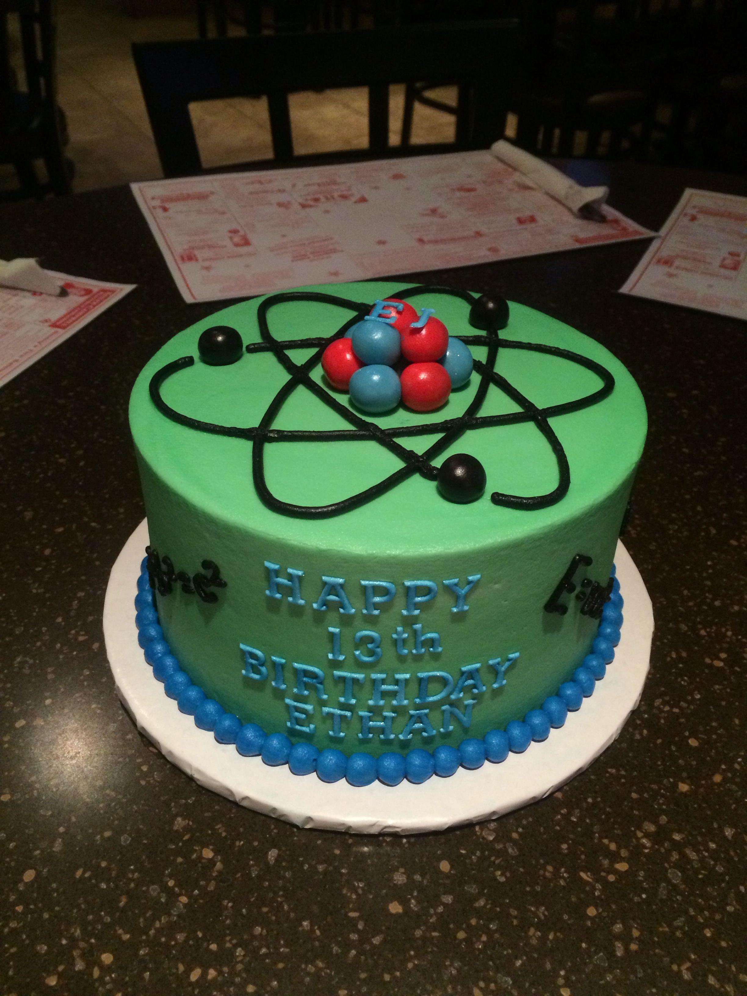 Atom cake | Science cake, Scientist birthday party ...