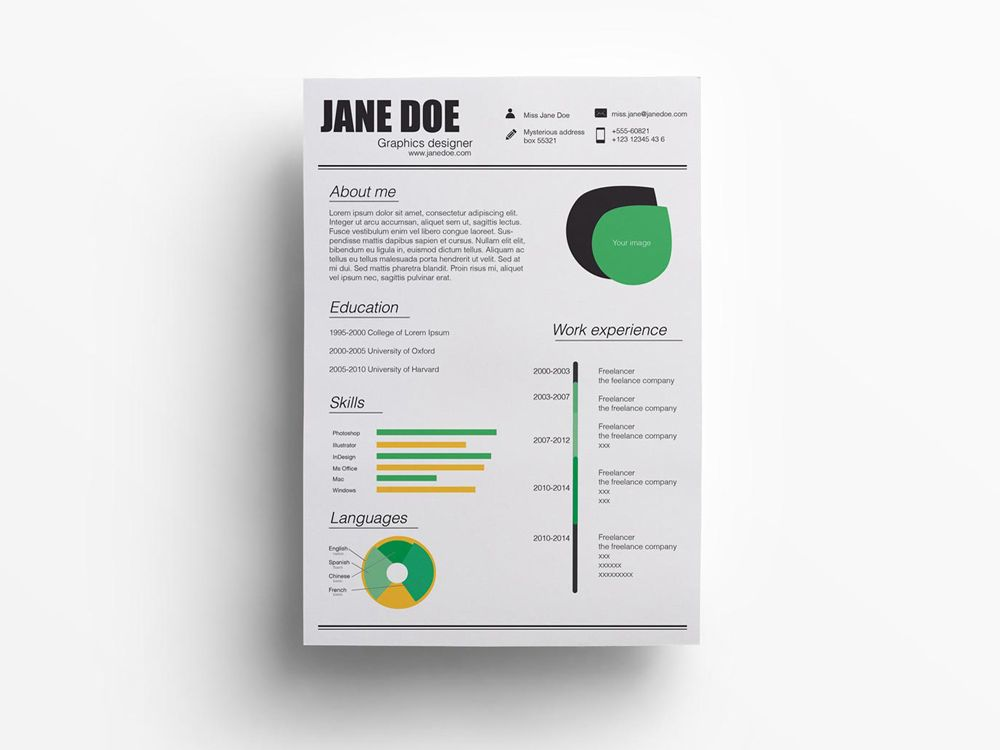 Illustrator Resume Templates Free Resume Template In Illustrator Format  Free Resume Templates