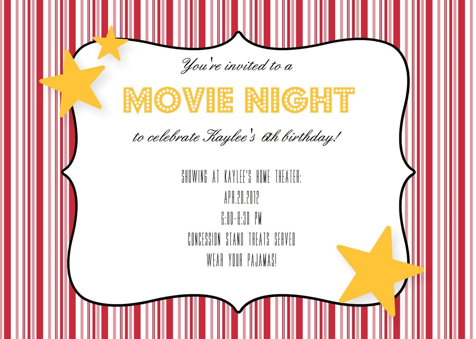 movie ticket invitation template free printable google search