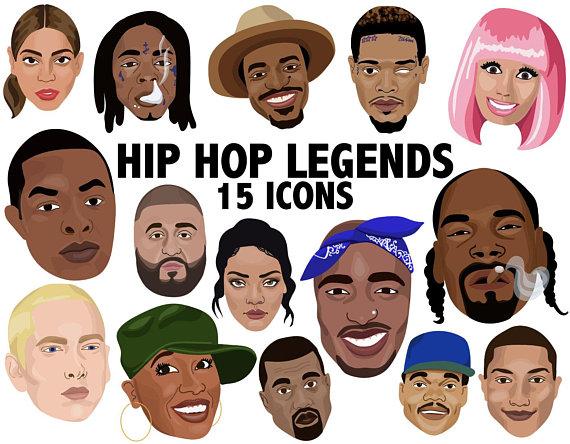 a7cc28c3f423 HIP HOP LEGENDS - hiphop clipart icons