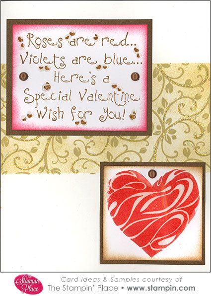 card idea 12852 swirl heart roses are red  cards red