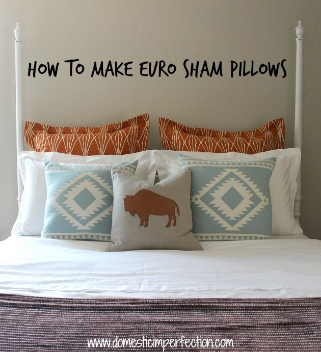 Sewing A Euro Sham Pillow With Flanges Bloggers Best