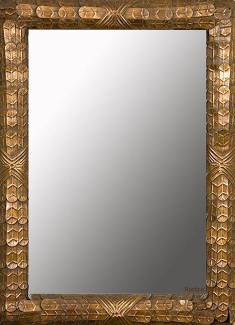 Hacienda copper mirror by Rustica House. #myrustica #rusticahouse #coppermirrors #rusticdecor