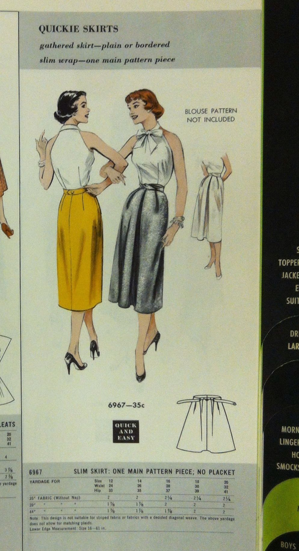 From The McCall Pattern Company archives: a page from a 1954 Butterick Patterns catalog. #butterickpatterns #vintagepatterns