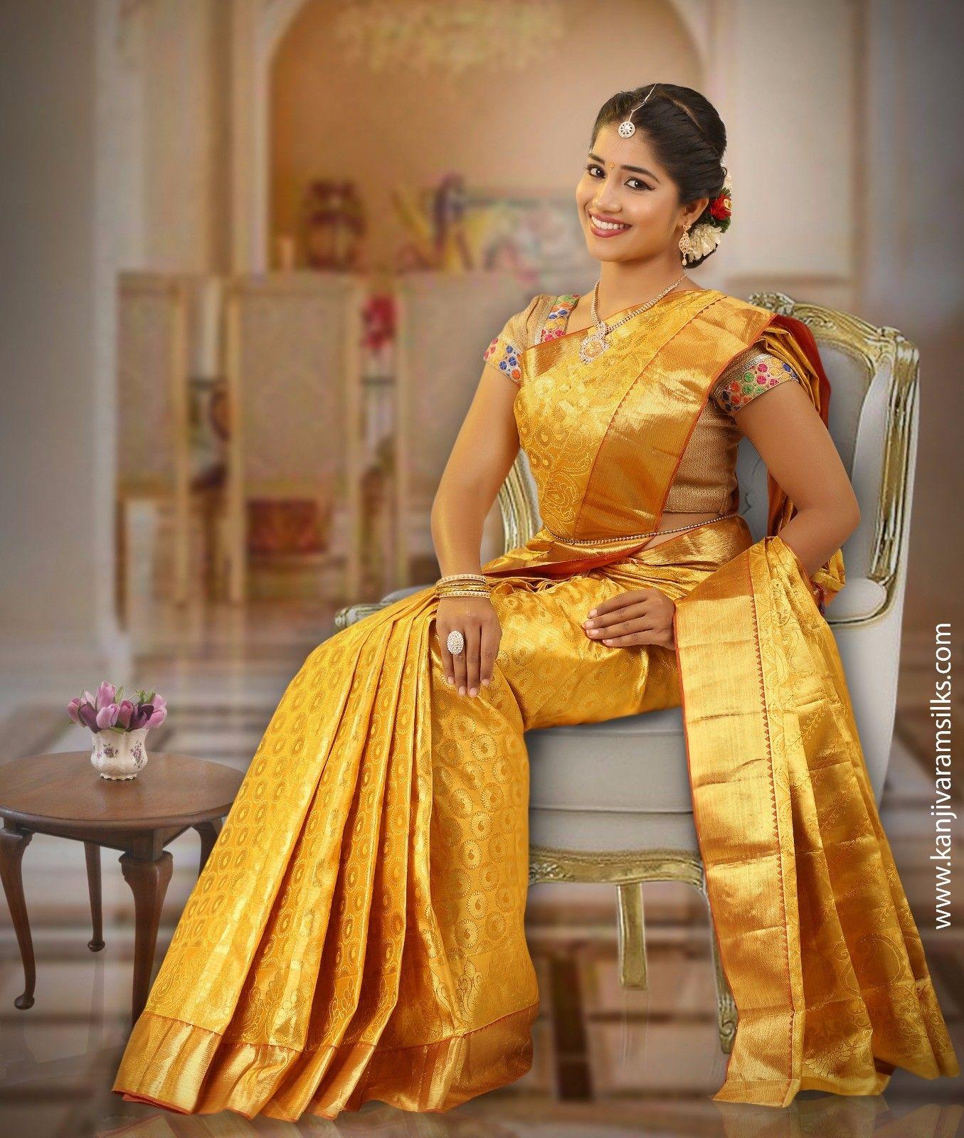 Full Gold Wedding Silk Saree Vbl4f3a8989 Nalini