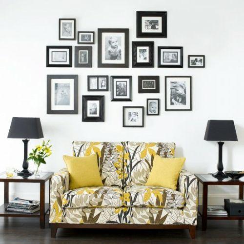 Wanddekoration Ideen wanddekoration ideen mit bildern und familienfotos wanddekoration