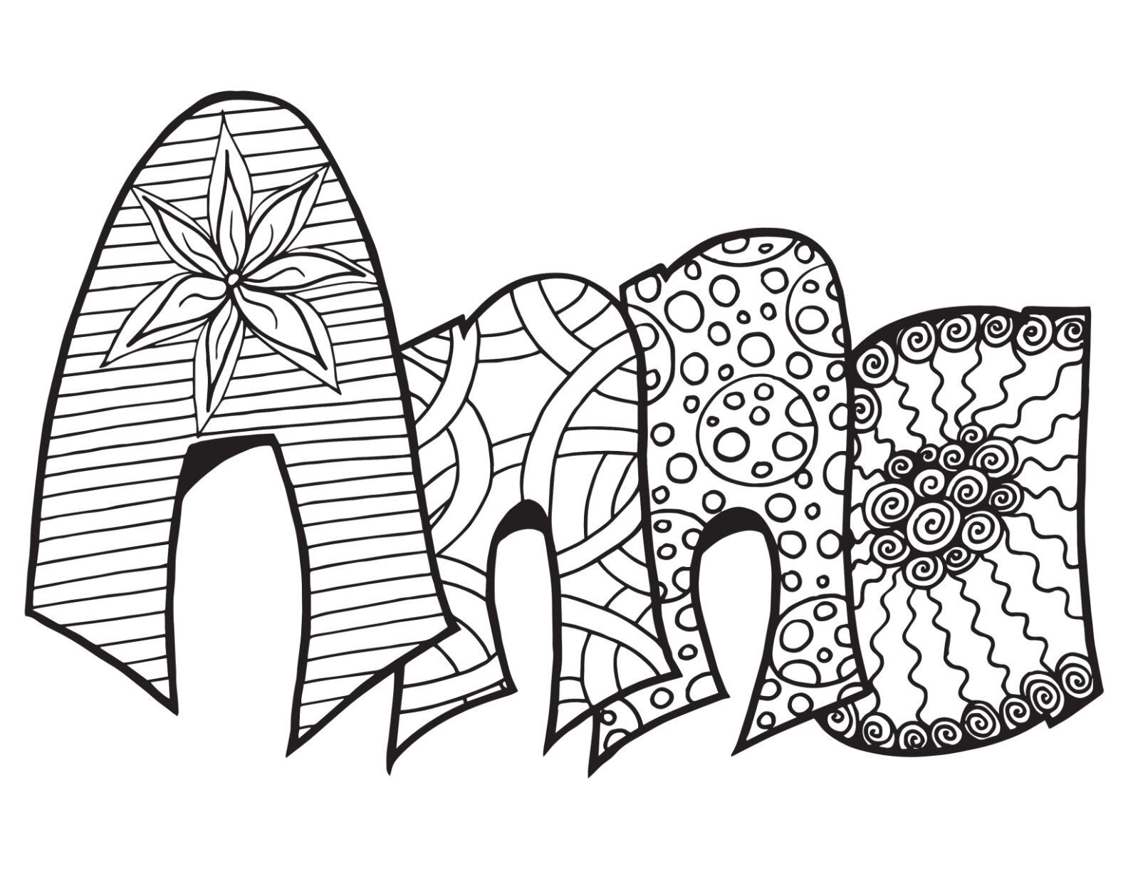ANNA! Free Printable Coloring Page - Classic Stevie Doodle — Stevie Doodles  | Free printable coloring pages, Love coloring pages, Coloring pages