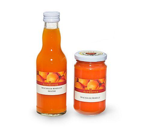 Gutes von der Wachauer Marille, Marillennektar und Marmelade, hergestellt im Wachauer Familienbetrieb – jetzt bei Servus am Marktplatz kaufen.