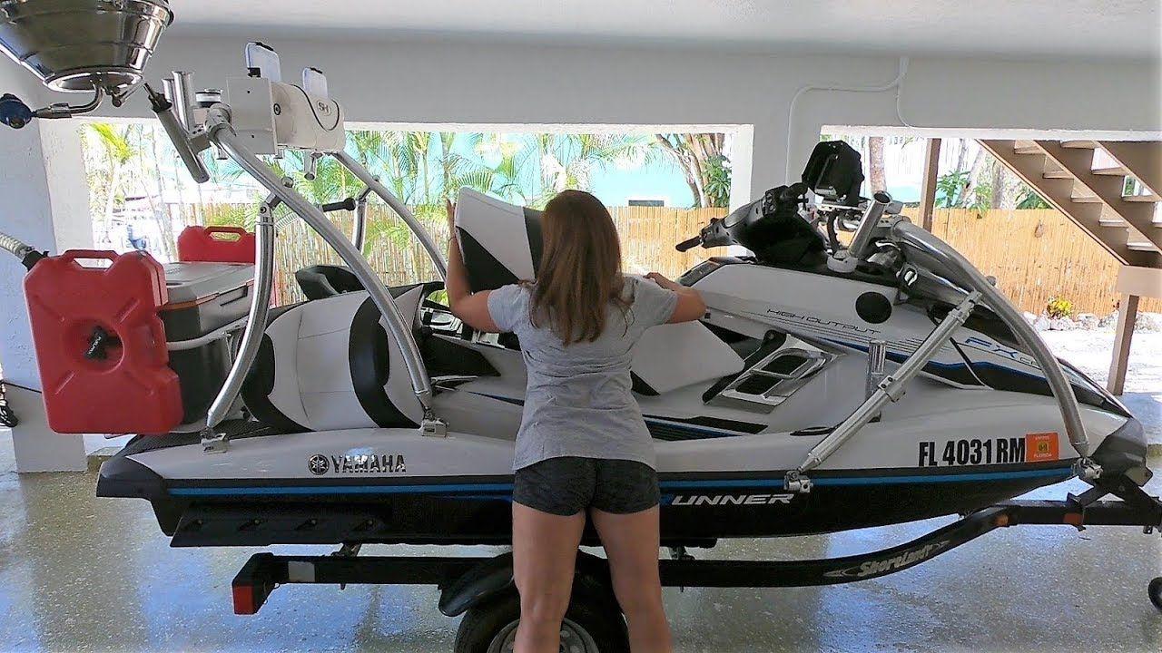 How To Setup Rig Yamaha Fxho Waverunner For Fishing Jet Ski Fishing Yamaha Waverunner Waverunner