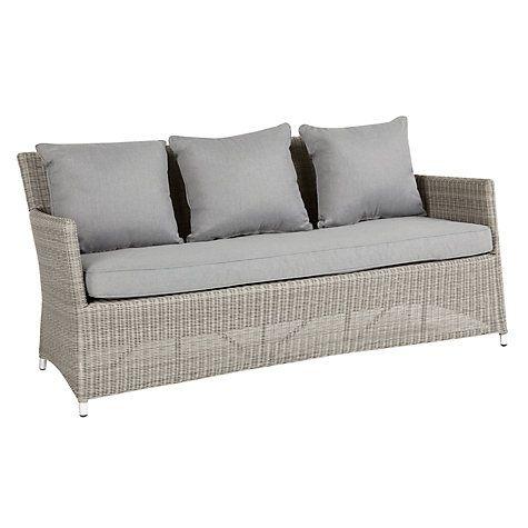 John Lewis Partners Dante 3 Seater Garden Sofa Natural Garden Sofa 3 Seater Sofa Sofa
