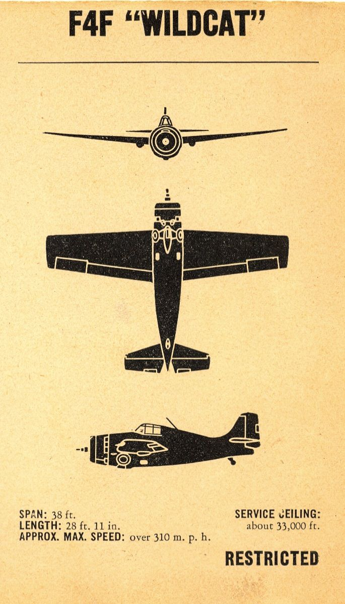 WWII Aircraft Recognition Manual - ID Silhouettes ~ indicia of ...