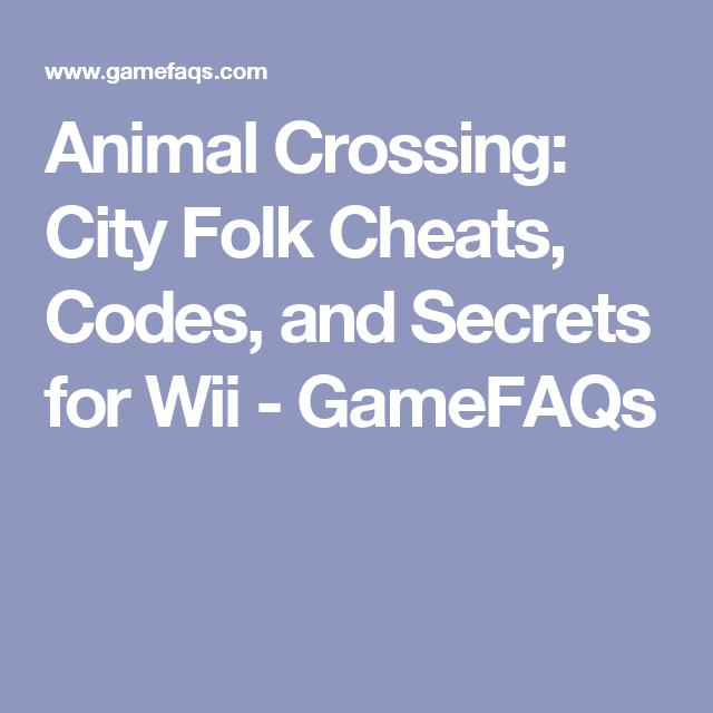 animal crossing city folk codes