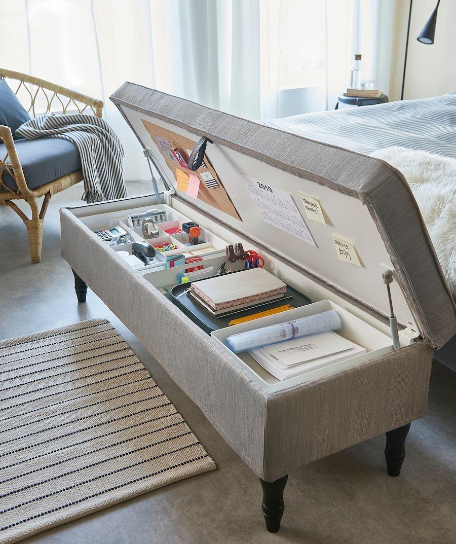IKEA - STOCKSUND Bench, Nolhaga gray-beige