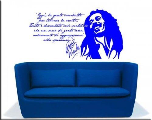 Adesivi Murali Bob Marley.Adesivi Da Parete Frase Family Black Roots Hell S Angels Home