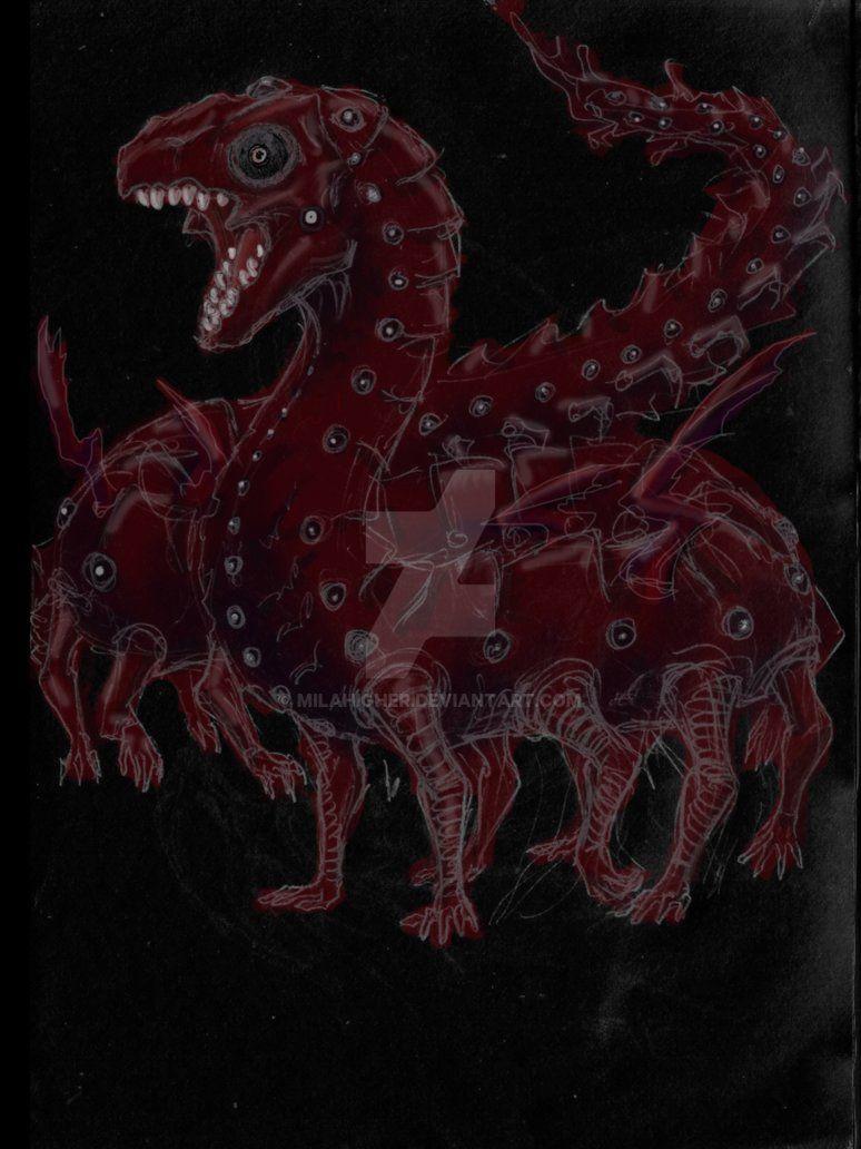 kaneki dragon form spoiler sketch by milahigher deviantart com on