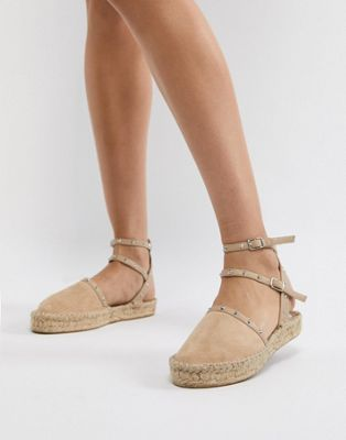 JINX ME Wide Fit Studded Espadrilles - Nude Asos Cheap Inexpensive For Nice Cheap Online Outlet Factory Outlet VaERM8