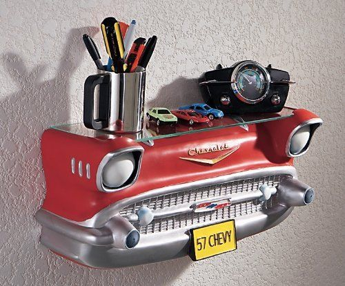 39 57 chevy wall shelf car themed stuff pinterest for Car themed kitchen