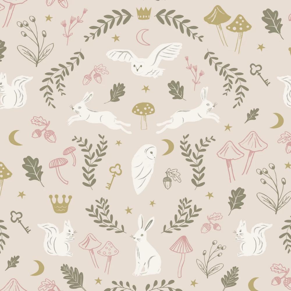 Woodland Wonders Wallpaper Dusty Pink Olive Kids Wallpaper Wallpaper Samples Wallpaper