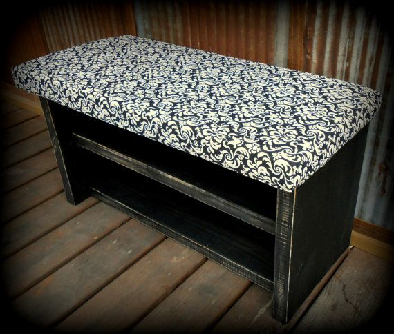 34 Inch Upholstered Top Shoe Rack Bench By Thehenryhouse On Etsy