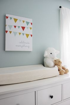 Benjamin Moore Woodlawn Blue Gender Neutral Nursery