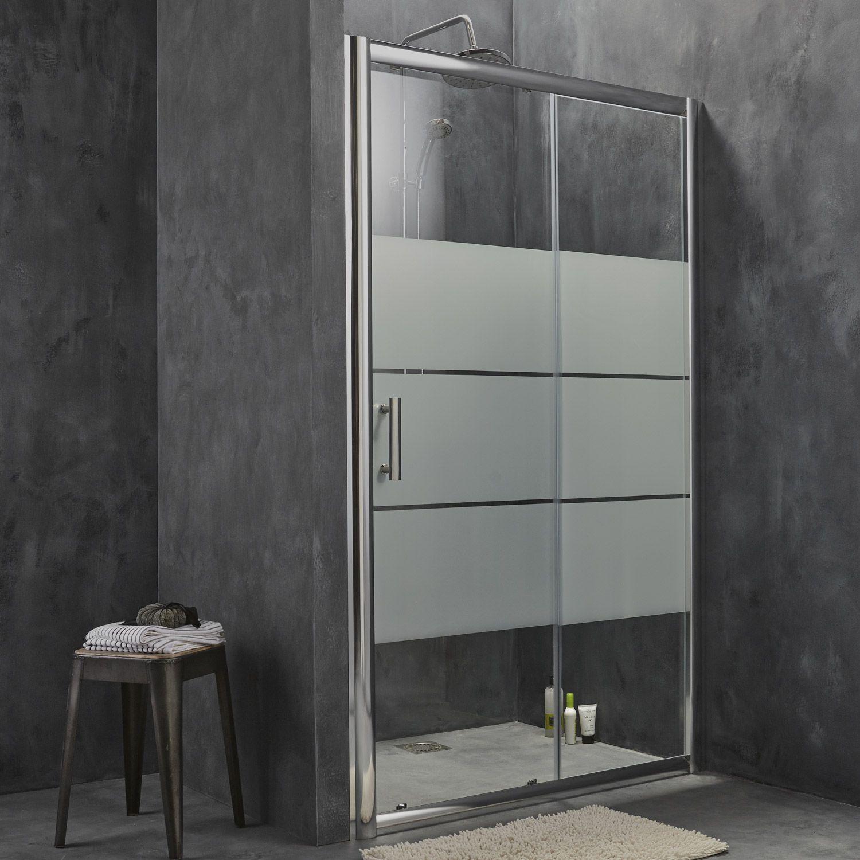 Porte de douche coulissante sensea optima 2 verre s rigraphi chrom 120 cm sandrine - Porte coulissante pour douche ...