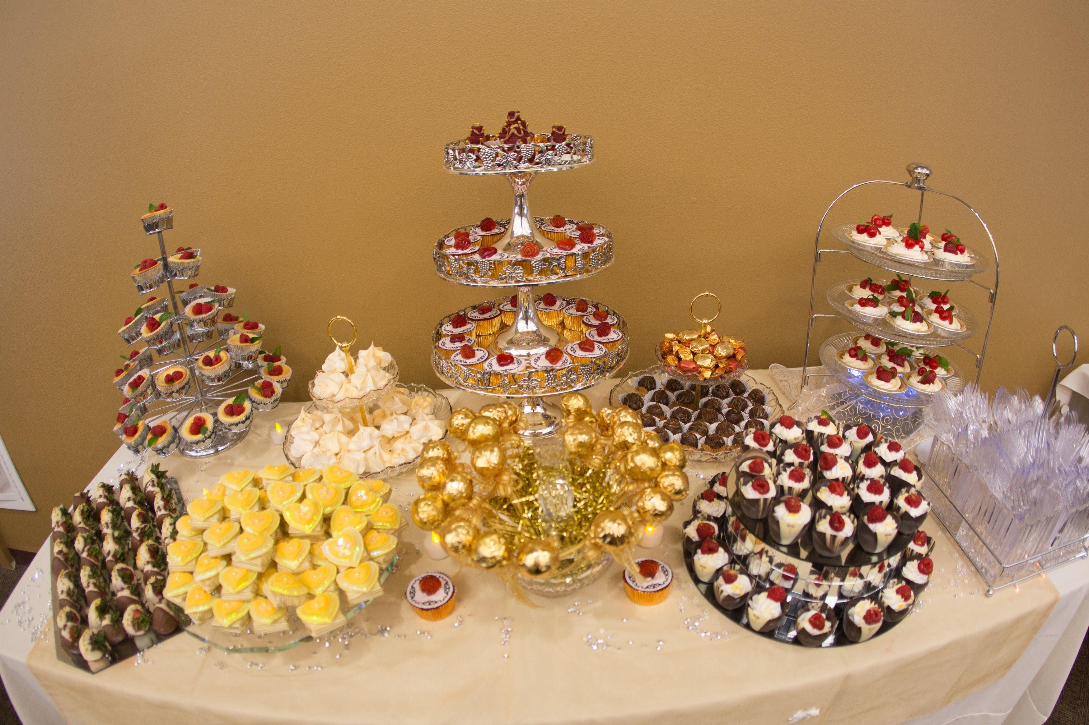 50th golden anniversary dessert table 50th golden anniversary