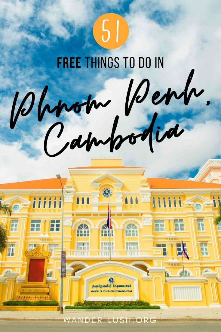A mega list of free cheap and awesome things to do in Phnom Penh Cambodia! #Cambodia #PhnomPenh  #Asia #style #shopping #styles #outfit #pretty #girl #girls #beauty #beautiful #me #cute #stylish #photooftheday #swag #dress #shoes #diy #design #fashion #Travel