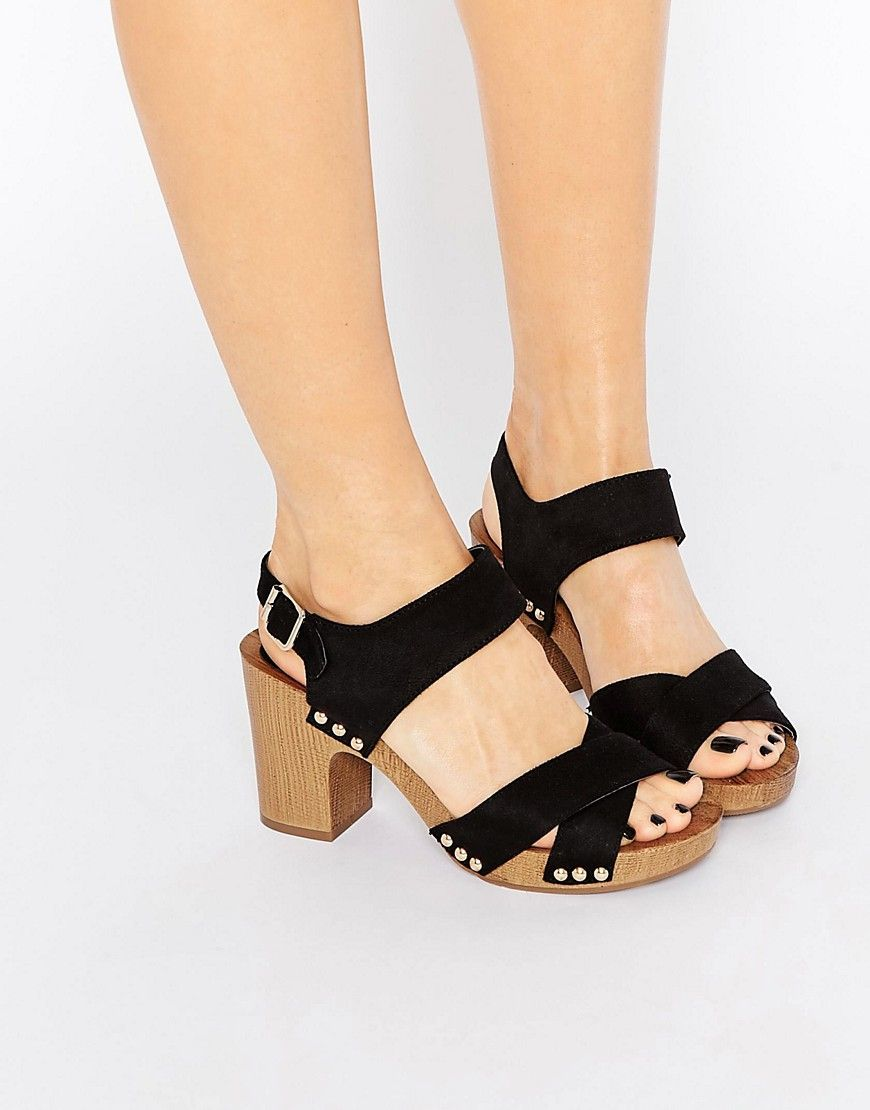 90aea0d8ff4 Image 1 of New Look Wooden Block Heeled Sandal