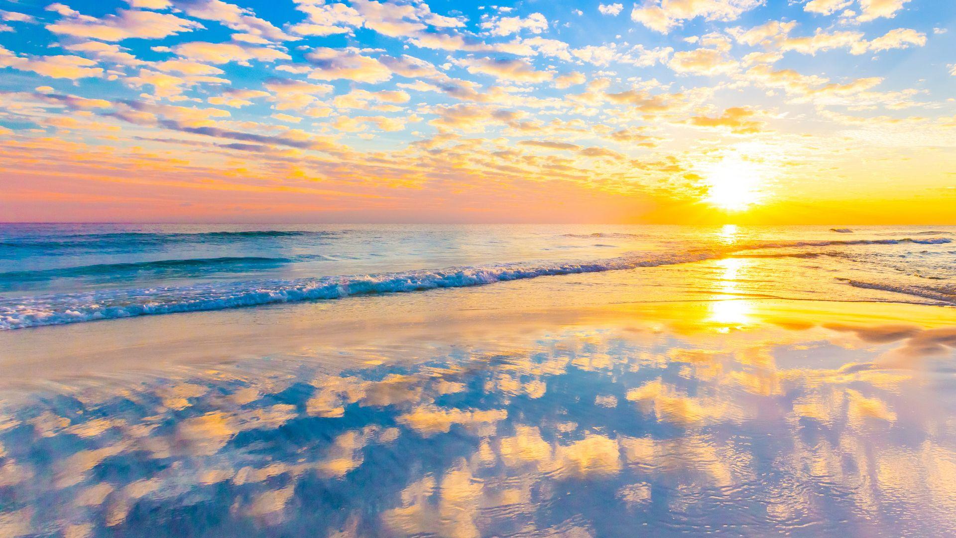 Beautiful Sunrise Pemandangan HD Wallpaper Dengan Gambar